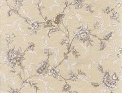 Обои С6БР Лувр-3 симплекс 0,53*10,05м цветы, серый (компаньон)