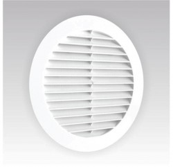 Решетка вентиляционная круглая 130мм., сетка, с фланцем 100мм ЭРА 10РКС