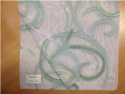 Тюль Органза Вензель листья 60042/11 3,0*2,5м, на тесьме зеленый