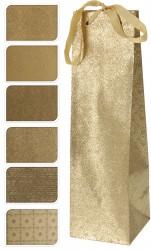 Пакет подарочный 35*10см золотой А59100050