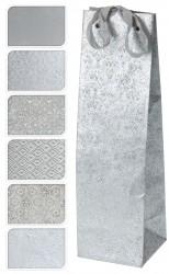 Пакет подарочный 35*10*10см серебро А59100250