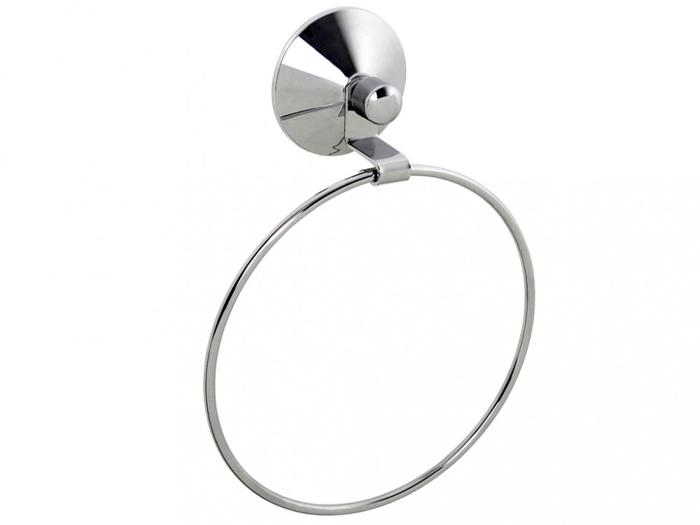 Держатель для полотенца кольцо Real 15,5*4,5*20,5  с вакуумной системой крепления