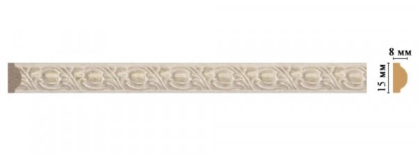 молдинг decomaster 15*8*2400мм 130c-18d шк/80 багет из дюрополимера decomaster ренессанс 807 552 2900х40х20 мм