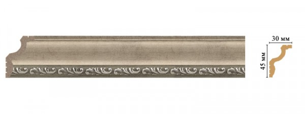 карниз decomaster 45*30*2400мм 148b-59 шк/40 багет из дюрополимера decomaster ренессанс 807 552 2900х40х20 мм