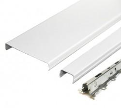 Комплект реечного потолка д/туалета 1.35х0.9м AN85A белый глянец с раскладкой белый глянец