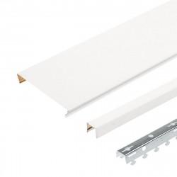 Комплект реечного потолка д/туалета 1.35х0.9м A100AS белый жемчуг