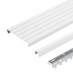 Комплект реечного потолка д/туалета 1.35х0.9м A100AS белый жемчуг с метал. полосой
