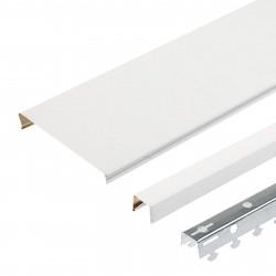 Комплект реечного потолка д/туалета 1.35х0.9м A100AS белый матовый