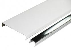 Набор реечного потолка AN85A белый c раскладкой супер-хром (2 кв.м)