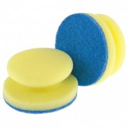 Губки для посуды круглые d=95*50мм Elfe 2шт с тефлоновым покрытием 92361