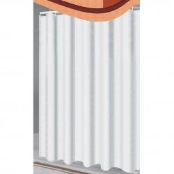 Шторка для ванной  однотонная белая