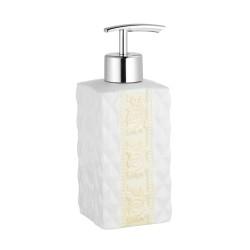Дозатор для жидкого мыла настольный керамика,  Diamond