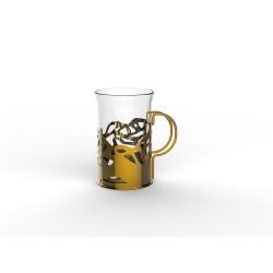 Набор стаканов в подстаканнике APOLLO genio Cite Gold 250мл 2шт CTG-250
