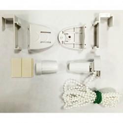 Механизм цепочный для рулонной шторы Мини, пластиковый, белый для трубы 17мм