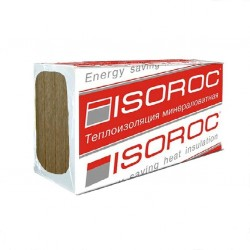 Теплоизоляция ISOROC Изовент, 1000 х 600 х 100 мм (2,4м2; 0,24м3; 4 шт)