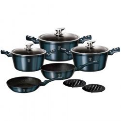 Набор посуды BERLINGER HAUS Aquamarine Metallic Line 10 предметов 1884-ВН