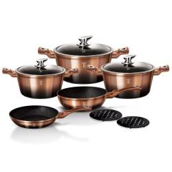 Набор посуды BERLINGER HAUS Rosegold Noir Metallic Line 10 предметов 1899-ВН