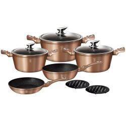Набор посуды BERLINGER HAUS Rosegold Line 10 предметов 1220N-ВН