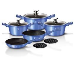 Набор посуды BERLINGER HAUS Royal blue Metallic Line 10 предметов 1658N-ВН