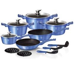 Набор посуды BERLINGER HAUS Royal blue Metallic Line 15 предметов 1659N-ВН