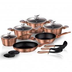 Набор посуды BERLINGER HAUS Rosegold Line 15 предметов 1224-ВН