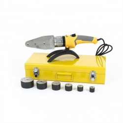 Аппарат для сварки пластиковых труб DWP-2000, Х-PRO, 2000 Вт, 300 градусов, комплект насадок, 20 - 6