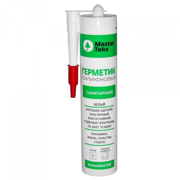 герметик masterteks силиконовый санитарный 260мл. белый