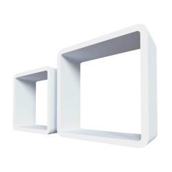 "Qwerty Комплект полок ""Лондон"" цвет белый, 27х27х10см; 23х23х10см; толщина 1,5см"