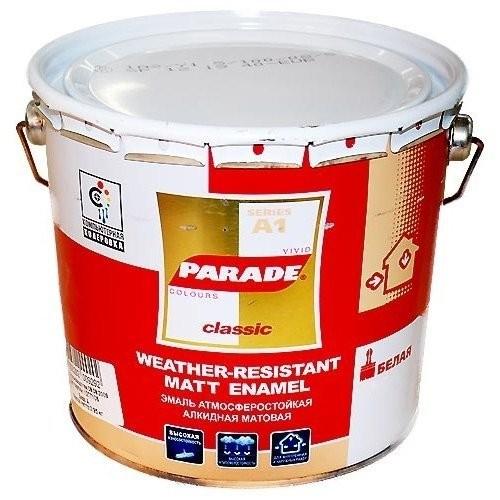 Эмаль PARADE A1 0,75л белая матовая, база С