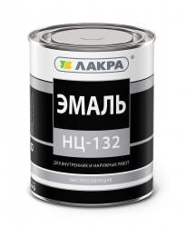 Эмаль НЦ-132 0,7кг красный /Лакра/