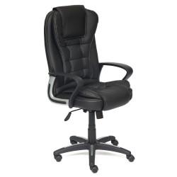 Кресло компьютерное BARON [кож/зам, черный/черный перфорированный, 36-6/36-6/06]
