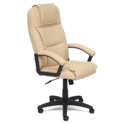 Кресло компьютерное  экокожа бежевый 61х50см