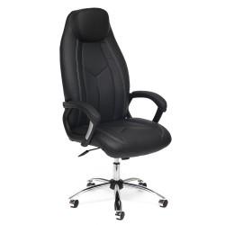 Кресло компьютерное  экокожа черный 64х54см