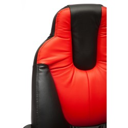 Кресло компьютерное {3} экокожа многоцветный 64х50см