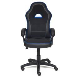 Кресло компьютерное SHUMMY (кож/зам+ткань, черный+синий, PU 36-6/PU 36-39/3K-11)