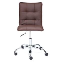 Кресло компьютерное {3} экокожа коричневый 44х43см