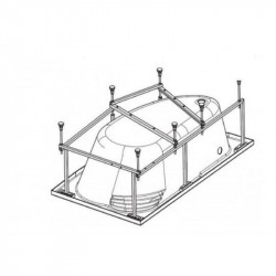 Монтажный комплект к асимметричной ванне