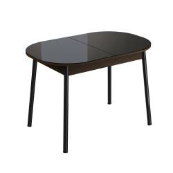 Стол обеденный раздвижной Енисей (1,1*0,7*0,75) Эмаль Венге темный JO 15M800/RAL 9004 матовая