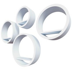 "Qwerty Комплект полок ""Торонто"" цвет белый, 40х10см; 35х10см; 30х10см; 25х10см; толщина 2см"