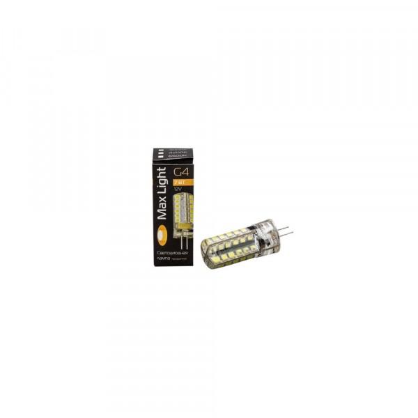 лампа светодиодная maxlight jc led g4 7w 4200k 12v