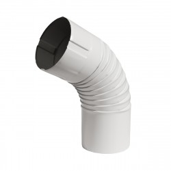 Колено, цвет сигнально-белый RAL 9003, d-100 мм