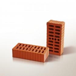 Кирпич рядовой одинарный пустотелый с рифленой поверхностью красный 250*120*65 мм