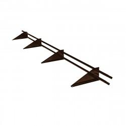 Снегозадержатель трубчатый универсальный RAL 8017 /3,0м/