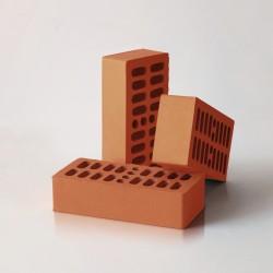 Кирпич керамический одинарный пустотелый облицовочный красный 250*120*65мм