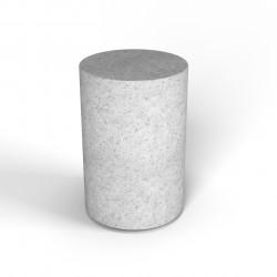 Фигура декоративная Flox Цилиндр белый гранит
