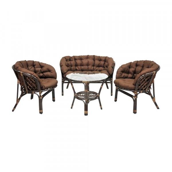 комплект кофейный багамы 03/10б (s) браун (диван, стол, кресло-2шт)