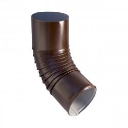 Колено стока, цвет шоколадно-коричневый RAL 8017, d-100 мм