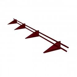 Снегозадержатель трубчатый универсальный RAL 3005 /3,0м/
