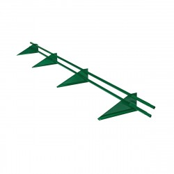 Снегозадержатель трубчатый универсальный RAL 6005 /3,0м/