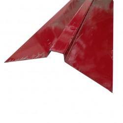 Планка конька плоского 130*30*130 0,5 PE-foil RAL 3005